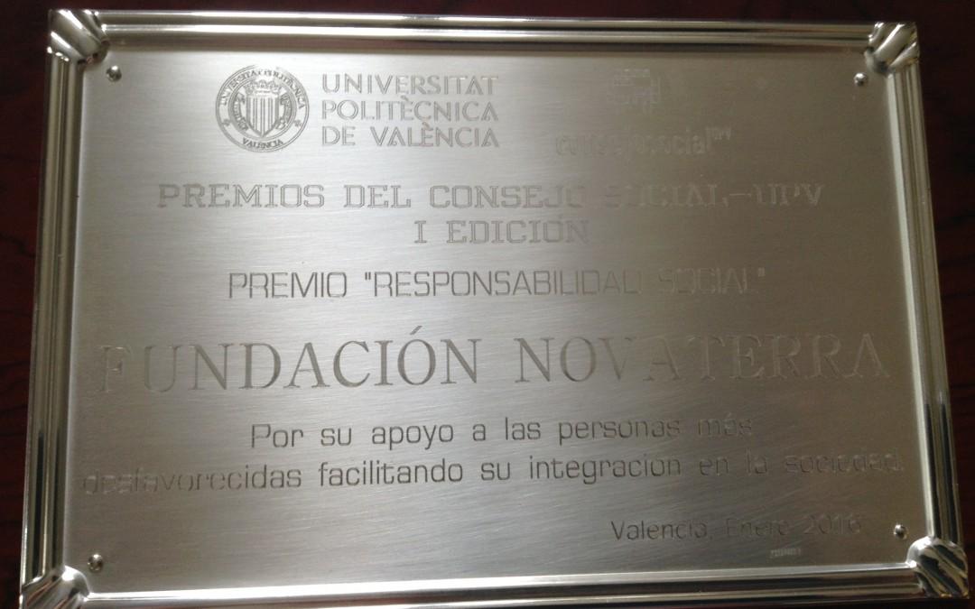 Novaterra: I Premio de Responsabilidad Social del Consell Social de la UPV