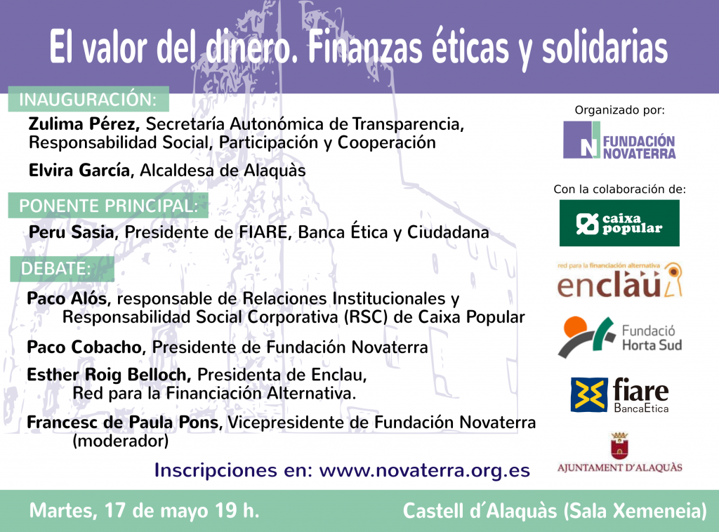 """17-mayo-2016: Debate """"El valor del dinero. Finanzas éticas y solidarias"""""""