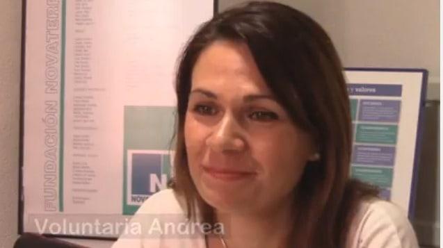 Andrea, voluntaria: «La palabra que mejor define a Novaterra es compromiso»
