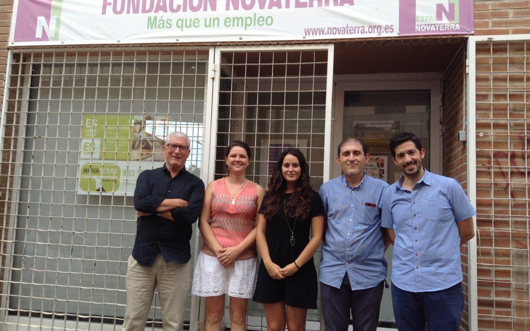 Zulima Pérez Seguí, Secretaria Autonómica de Transparencia, Responsabilidad Social, Participación y Cooperación, visita Novaterra