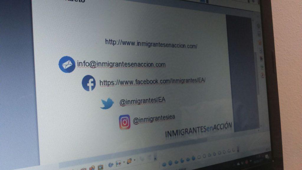 Visita de Inmigrantes en acción