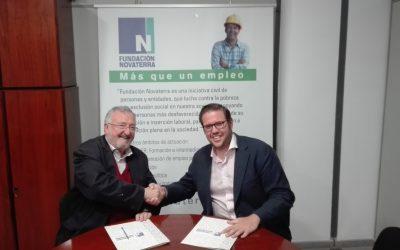 La Fundación Novaterra firma un convenio con grupo JV facility services para promover la inserción laboral