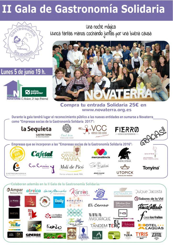 Más de 50 empresas del sector de la restauración se dan cita hoy en la gala de Fundación Novaterra