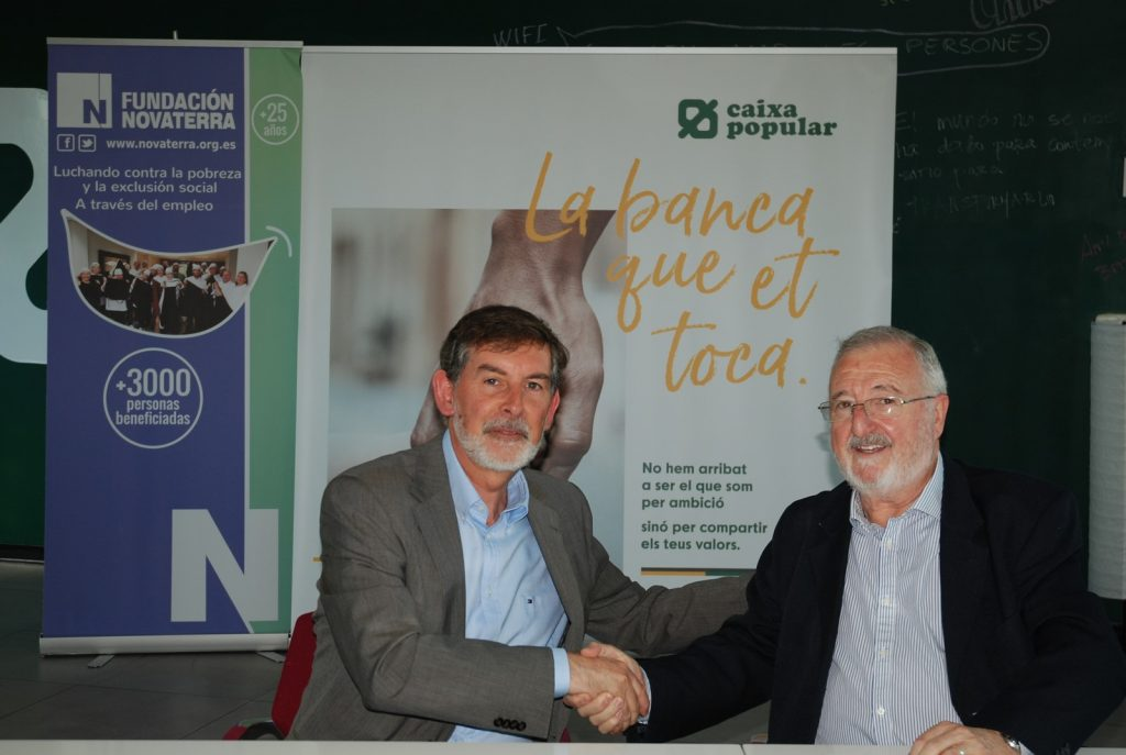 Convenio Caixa Popular y Fundación Novaterra, un lustro creciendo juntas