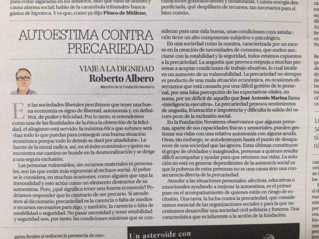 """Roberto Albero """"Autoestima contra precariedad"""""""