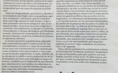 Ximo Garcia Roca: «Desigualdad y populismo»