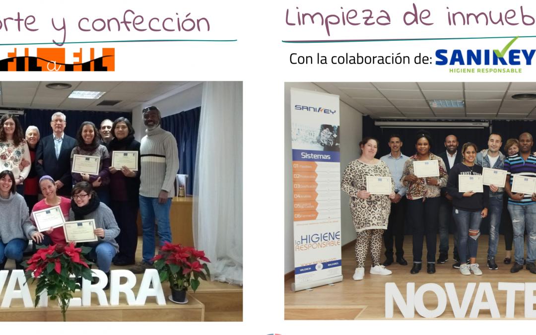"""Por segundo año consecutivo, Novaterra desarrolla el programa """"Itinerarios de inserción"""" financiado por la Generalitat Valenciana y la Unión Europea"""