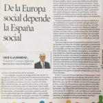 "Vicent Comes Iglesia:"" De la Europa social depende la España social"""