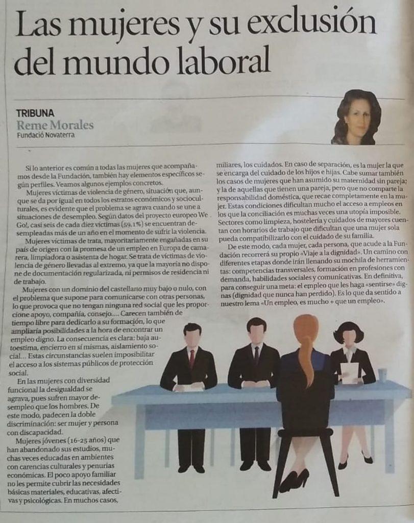 """Reme Morales: """"Las mujeres y su exclusión del mundo laboral"""""""