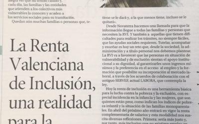 Amelia López:»La Renta Valenciana de Inclusión, una realidad para la dignidad»