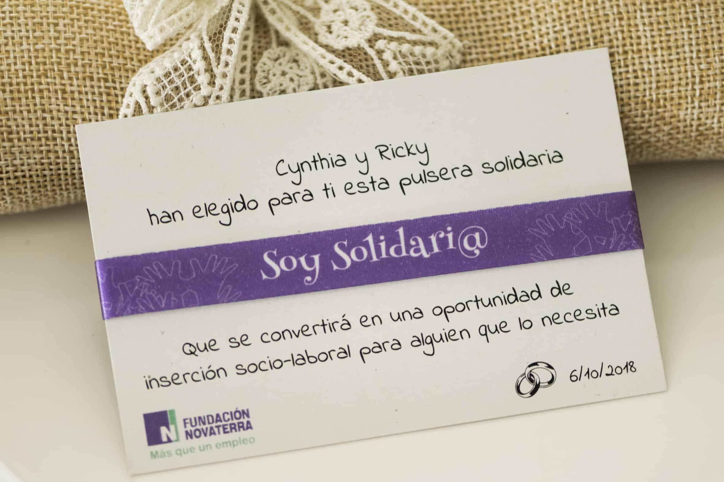 Pulseras Solidarias Novaterra