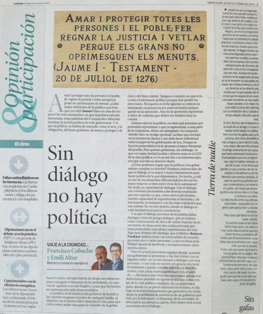 """Paco Cobacho y Emili Altur: """"Sin diálogo no hay política"""""""