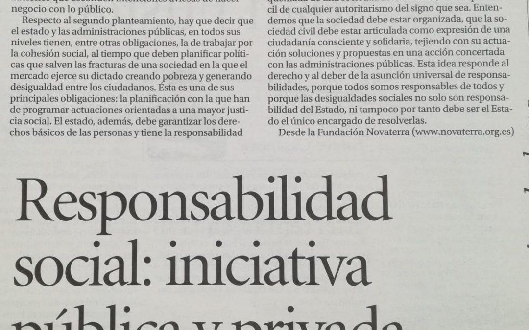 """Paco Cobacho: """"La iniciativa pública y privada en el ámbito de la responsabilidad social"""""""