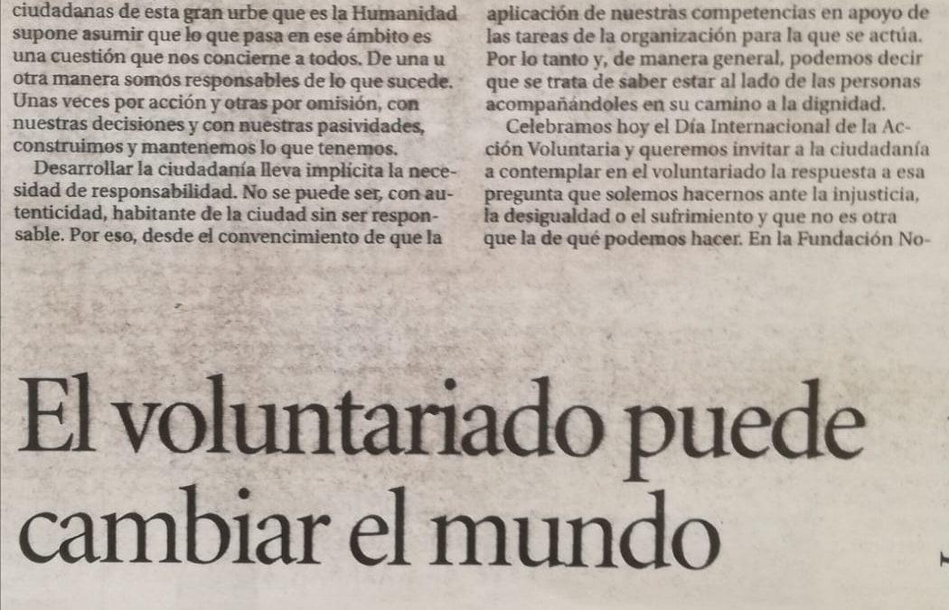 """Fernando del Rosario: """"El voluntariado puede cambiar el mundo"""""""