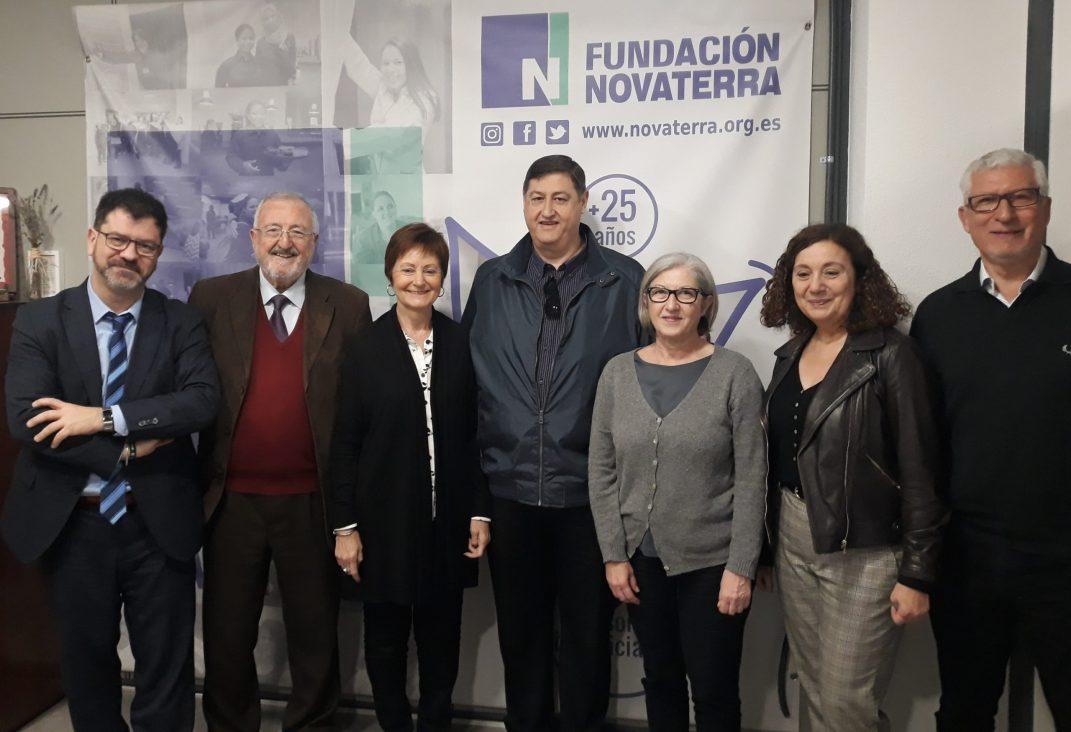 Mavi Mestre, Rectora de la Universitat de València, visita la Fundación Novaterra