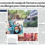 Un equipo de la empresa Novaterra Catering de Paterna se encarga de atender las 24 horas a sin techo llegados de València