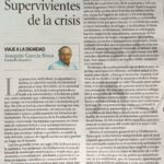 """Crisis del Covid. Ximo García Roca: """"Supervivientes de la crisis"""""""