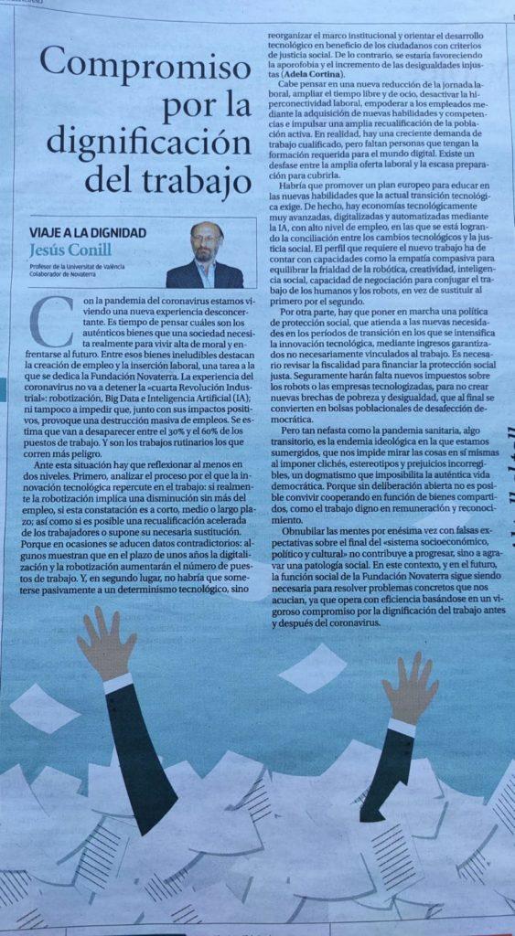 """Jesús Conill: """"Compromiso por la dignificación del trabajo"""""""