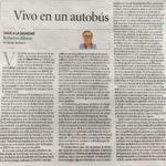 """Roberto Albero: """"Vivo en un autobús"""""""