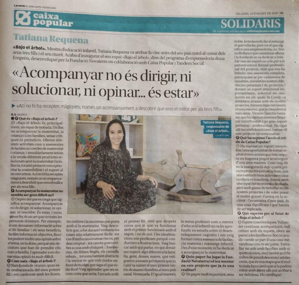 Entrevista a Tatiana Requena, Emprendedora de DonaEmprèn en Levante EMV