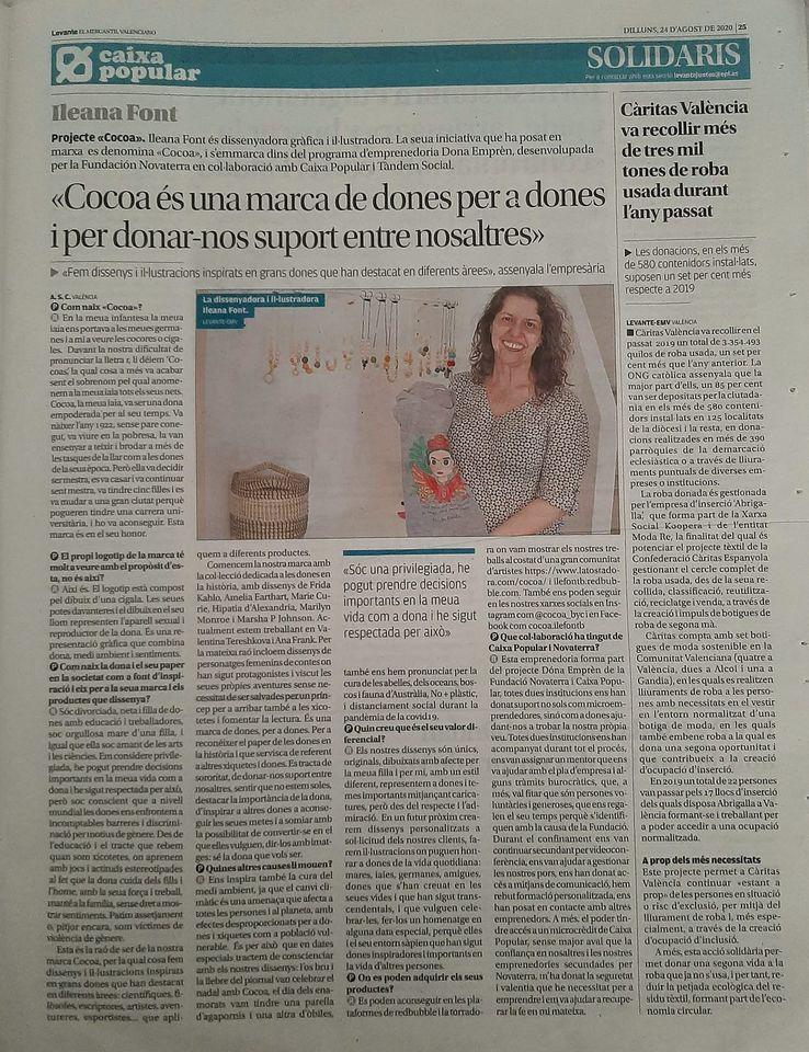 """Ileana Font: """"Cocoa és una marca de dones per a dones i per donar-nos suport entre nosaltres"""""""