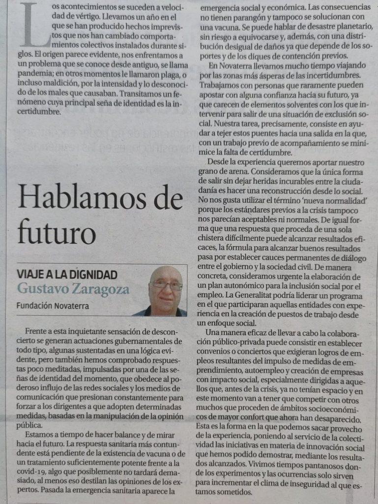"Gustavo Zaragoza: ""Hablamos de futuro"""