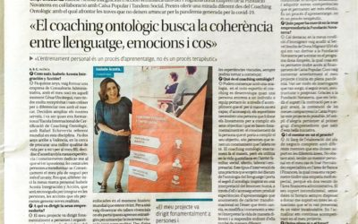 Isabele Acosta: «El coaching ontològic busca la coherència entre llenguatge, emocions i cos»