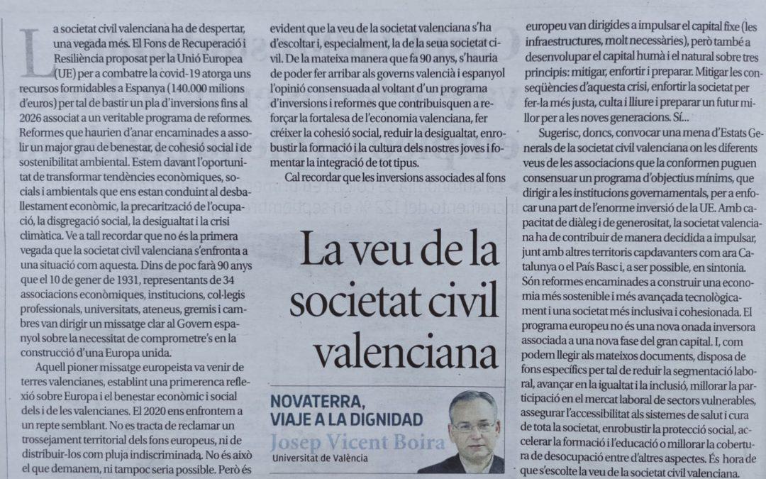 """Josep Vicent Boira: """"La veu de la societat civil valenciana"""""""