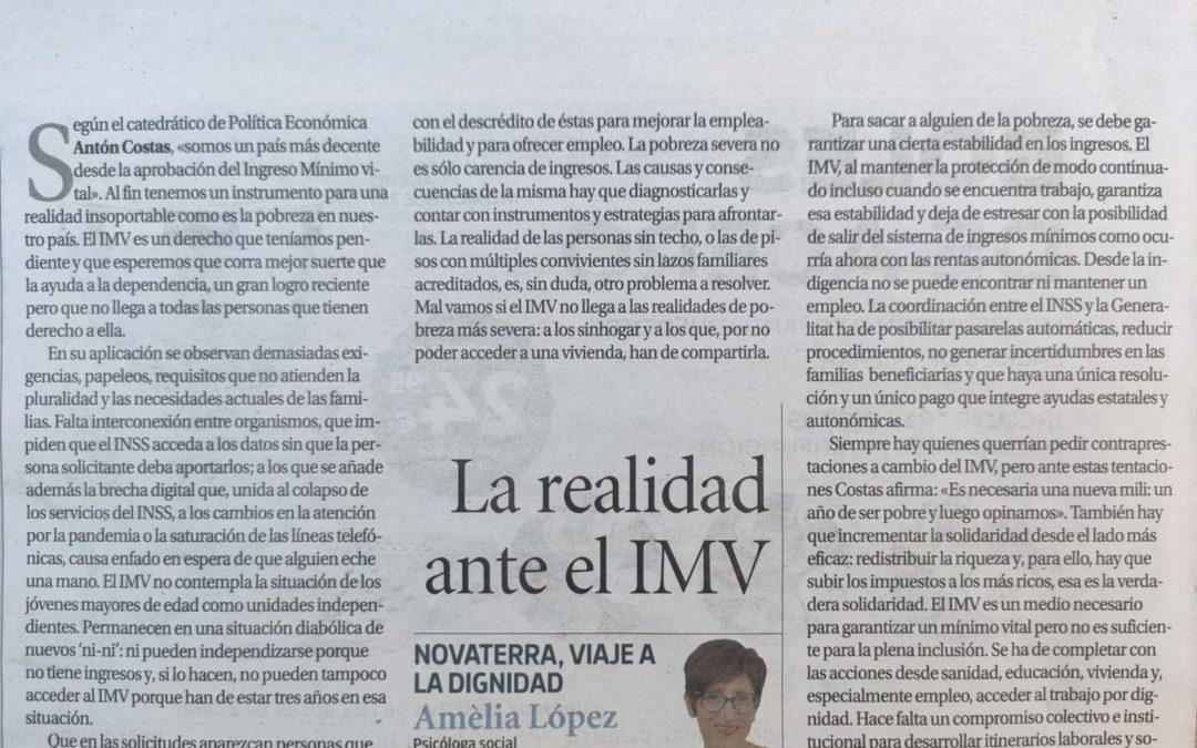 """Amèlia López: """"La realidad ante el IMV"""""""