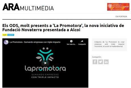 Presentación de La Promotora en los medios