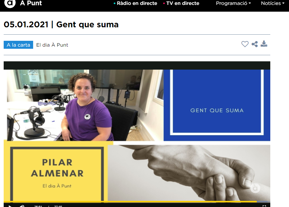 "Entrevista en À Punt Media. Hablamos sobre Dona Emprèn y el proyecto ""Natural Snaks"""