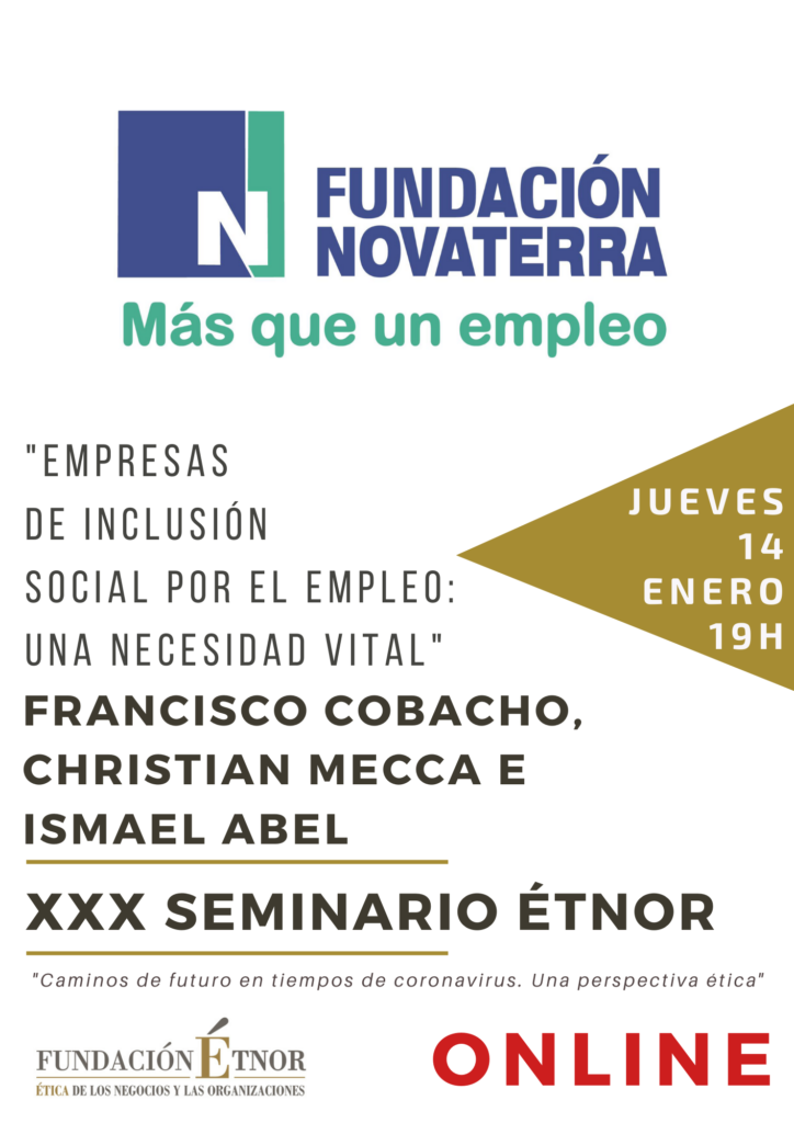 El modelo de emprendimiento social de Novaterra a debate en el Seminario ÉTNOR de Ética Económica y Empresarial