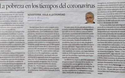 """Pere J. Beneyto: """"La pobreza en los tiempos del coronavirus"""""""