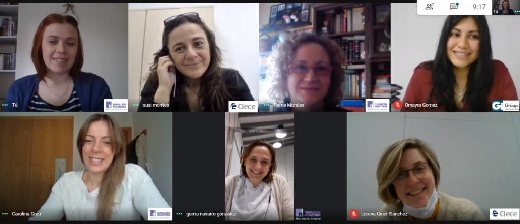 Fundación Novaterra realiza una simulación de entrevista laboral por videoconferencia con Clece y Gi Group
