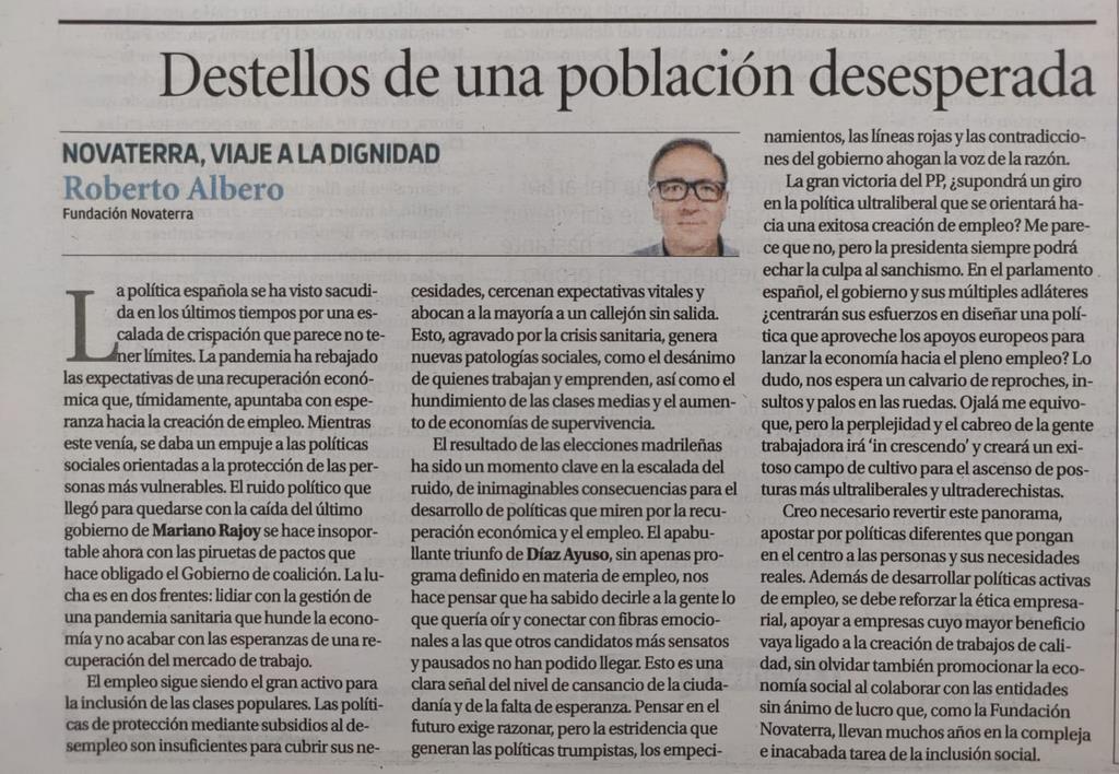 """Roberto Albero: """"Destellos de una población desesperada"""""""