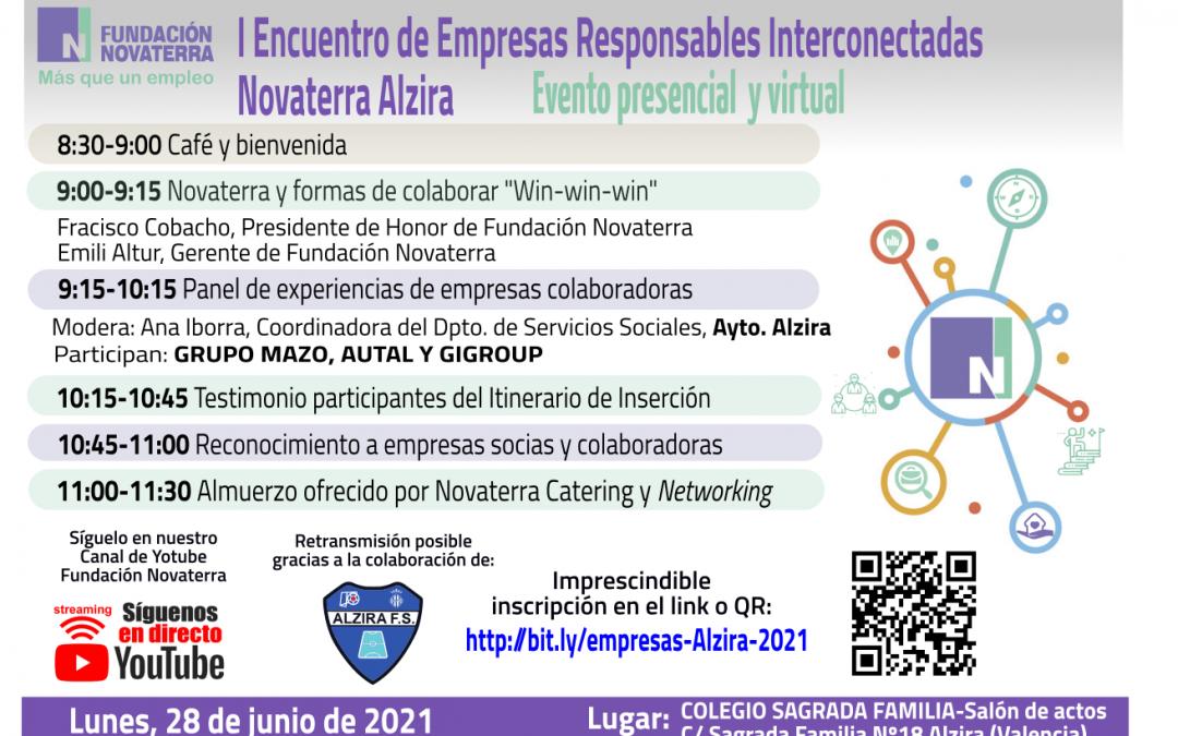 I Encuentro Empresas Responsables Interconectadas Novaterra Alzira (28 junio 2021)