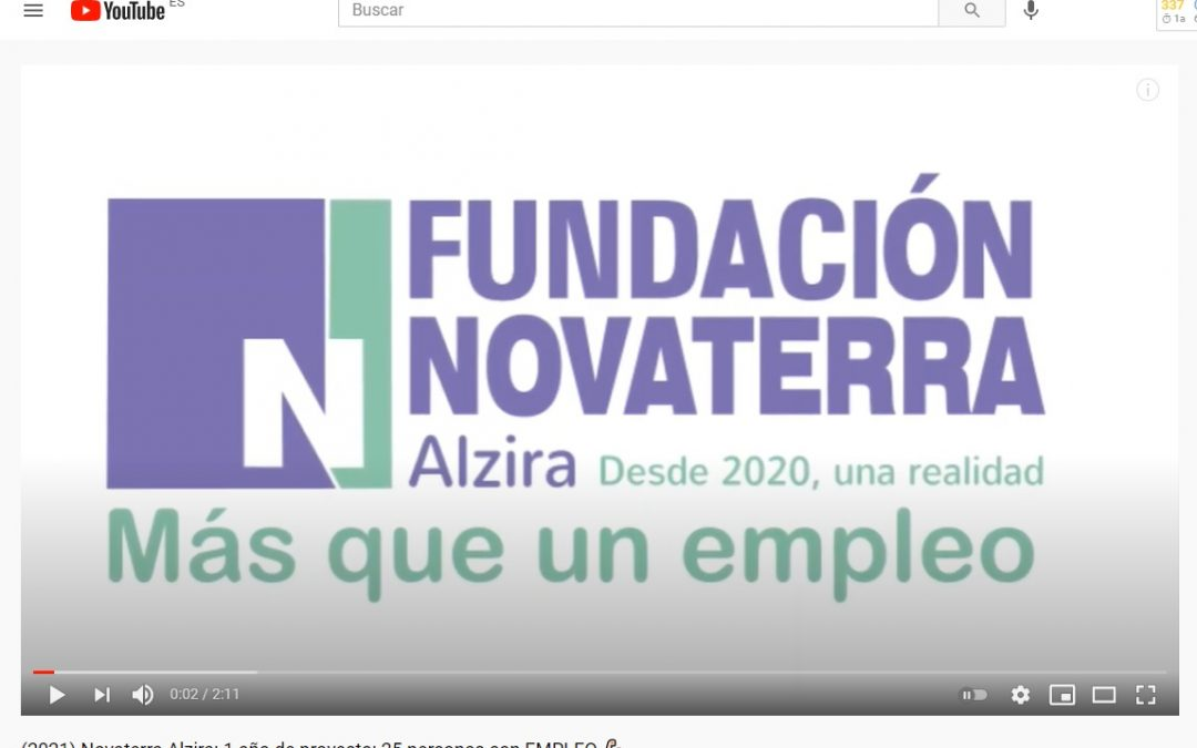 (2021) Novaterra Alzira: 1 año de proyecto: 25 personas con EMPLEO 💪🏻