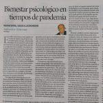 """""""Bienestar psicológico en tiempos de pandemia"""" por Salvador Almenar"""