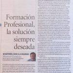 """A propósito de la Nueva FP: """"Formación Profesional Solución siempre deseada"""", por Manolo Gomicia"""