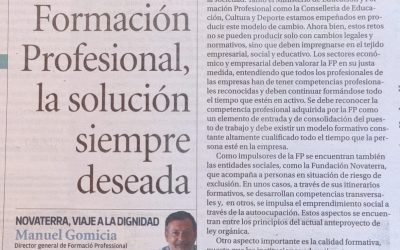 A propósito de la Nueva FP: «Formación Profesional Solución siempre deseada», por Manolo Gomicia